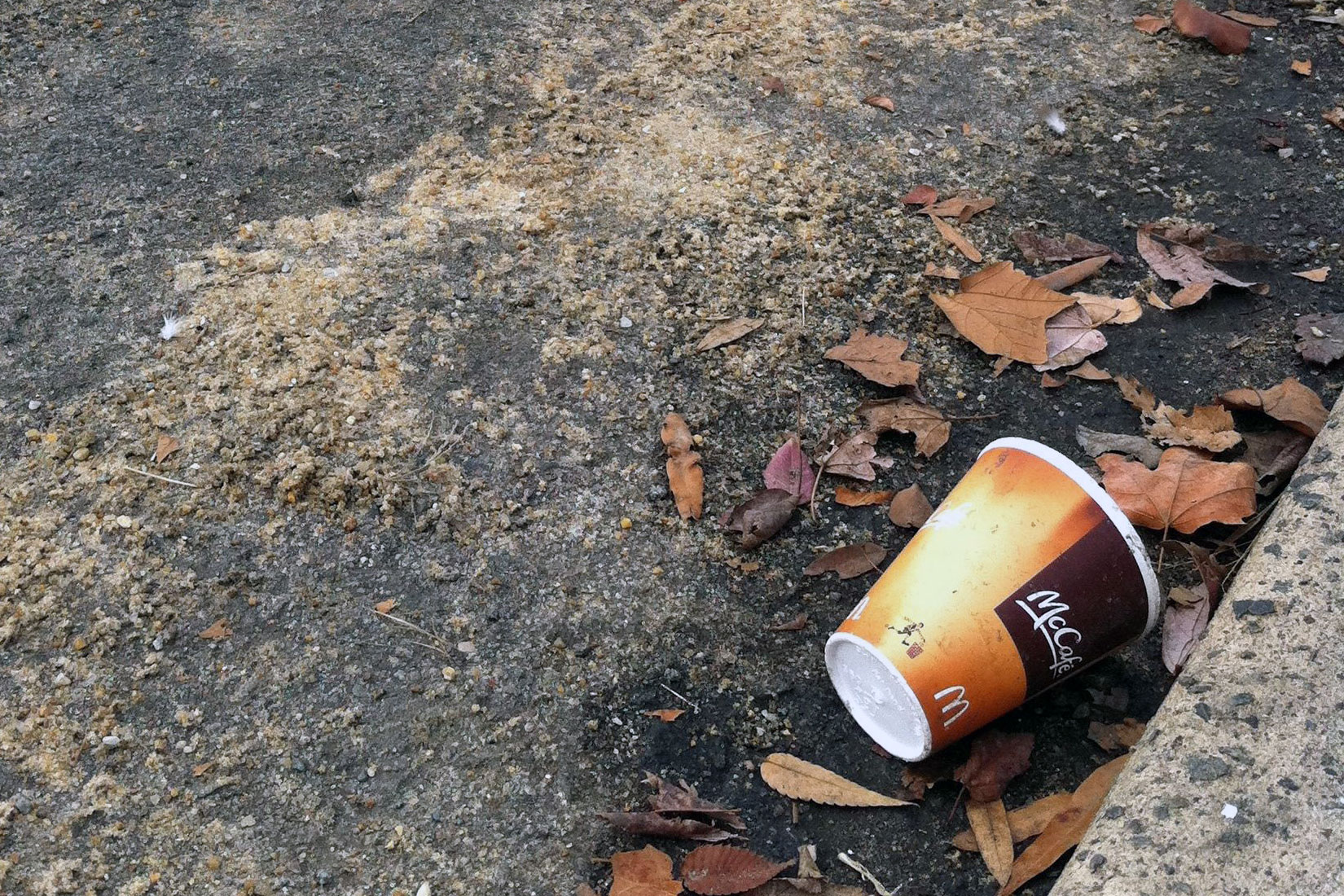 mcdonalds trashed cup