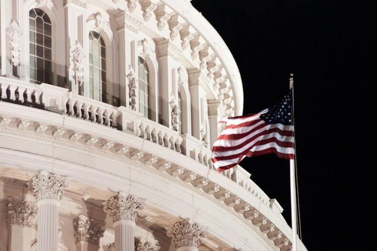 United States Capitol rotunda flag