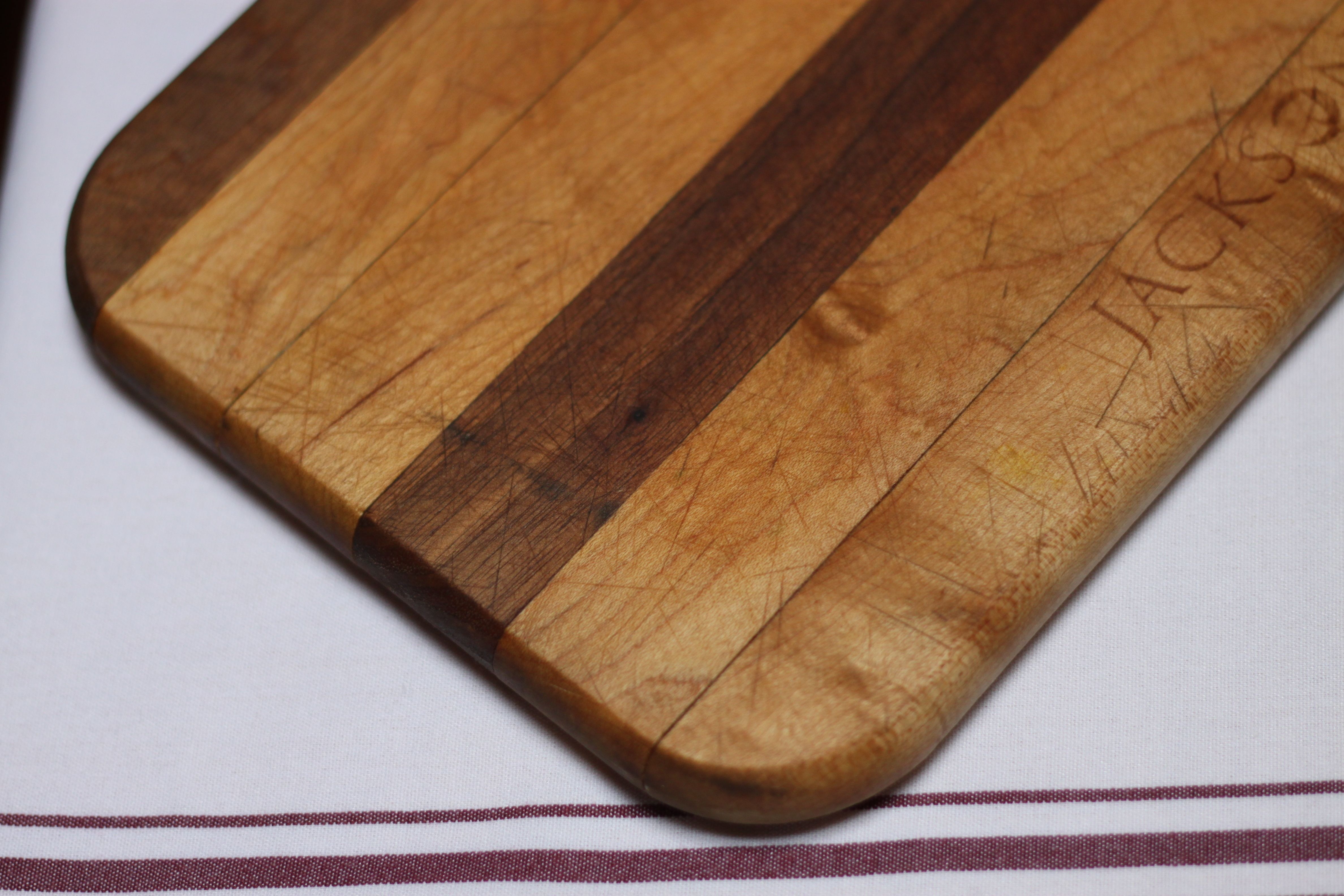 wooden cutting board, after oiling