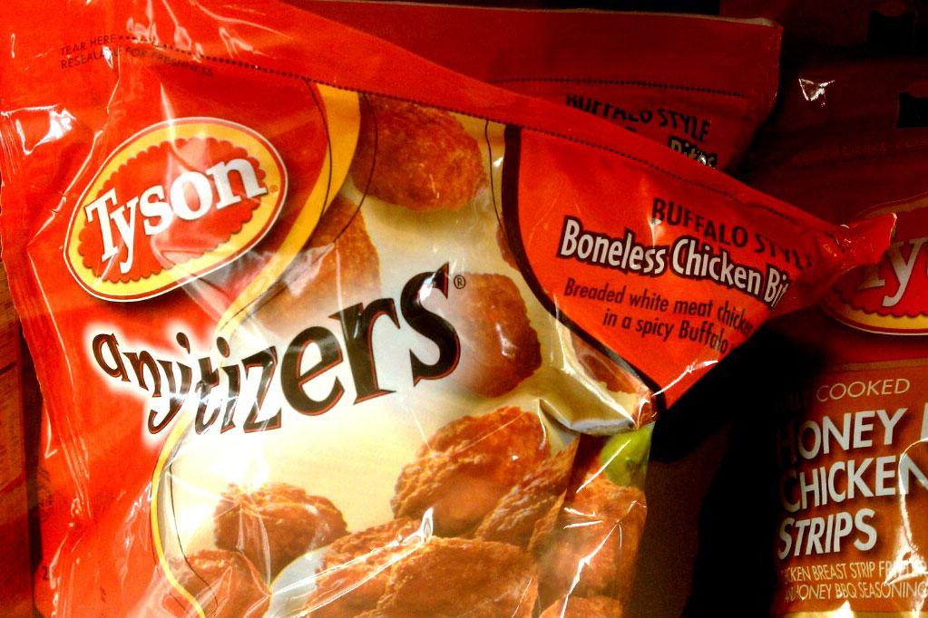 Bag of Tyson's frozen chicken nuggets