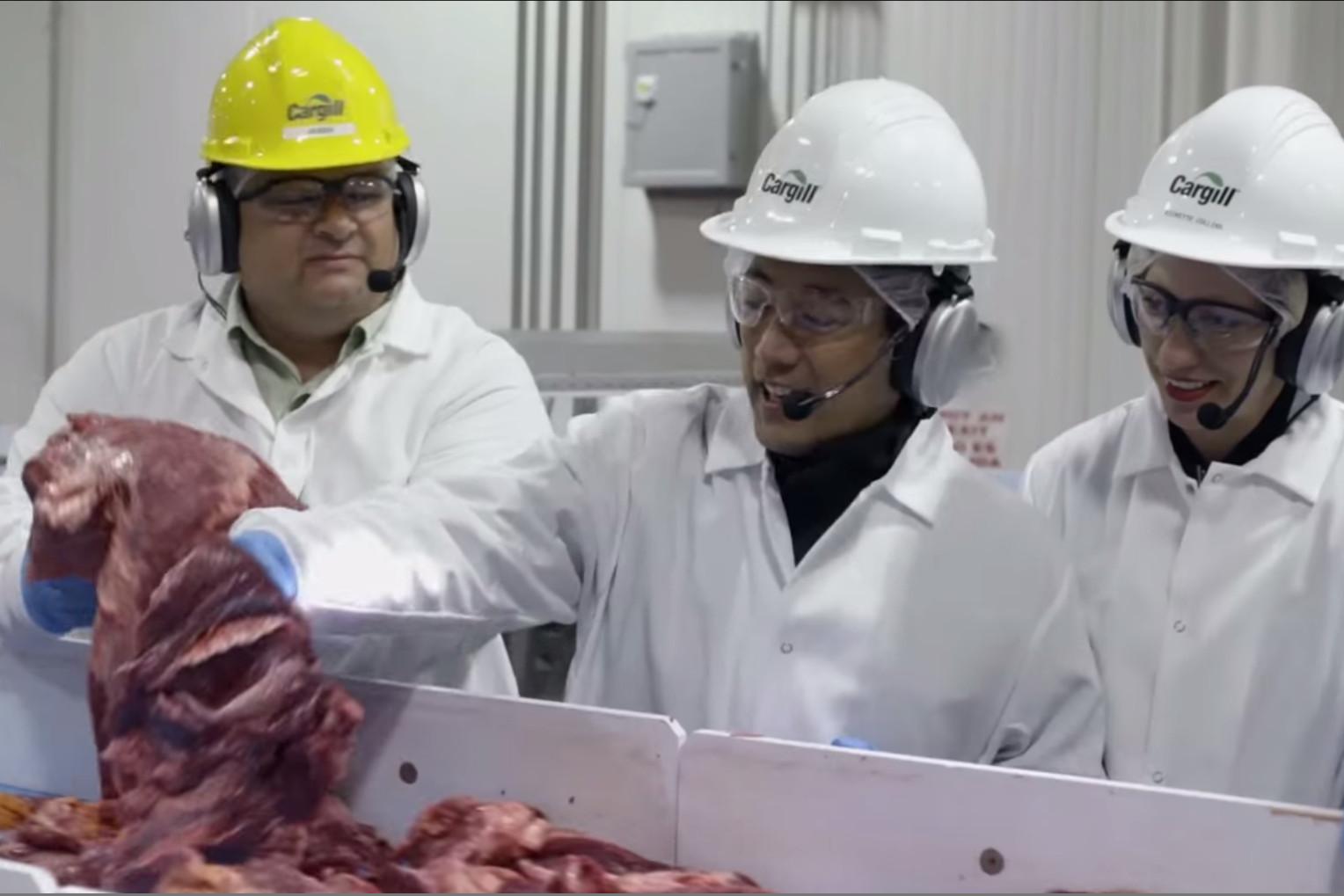 TV's Grant Imahara inspecting beef