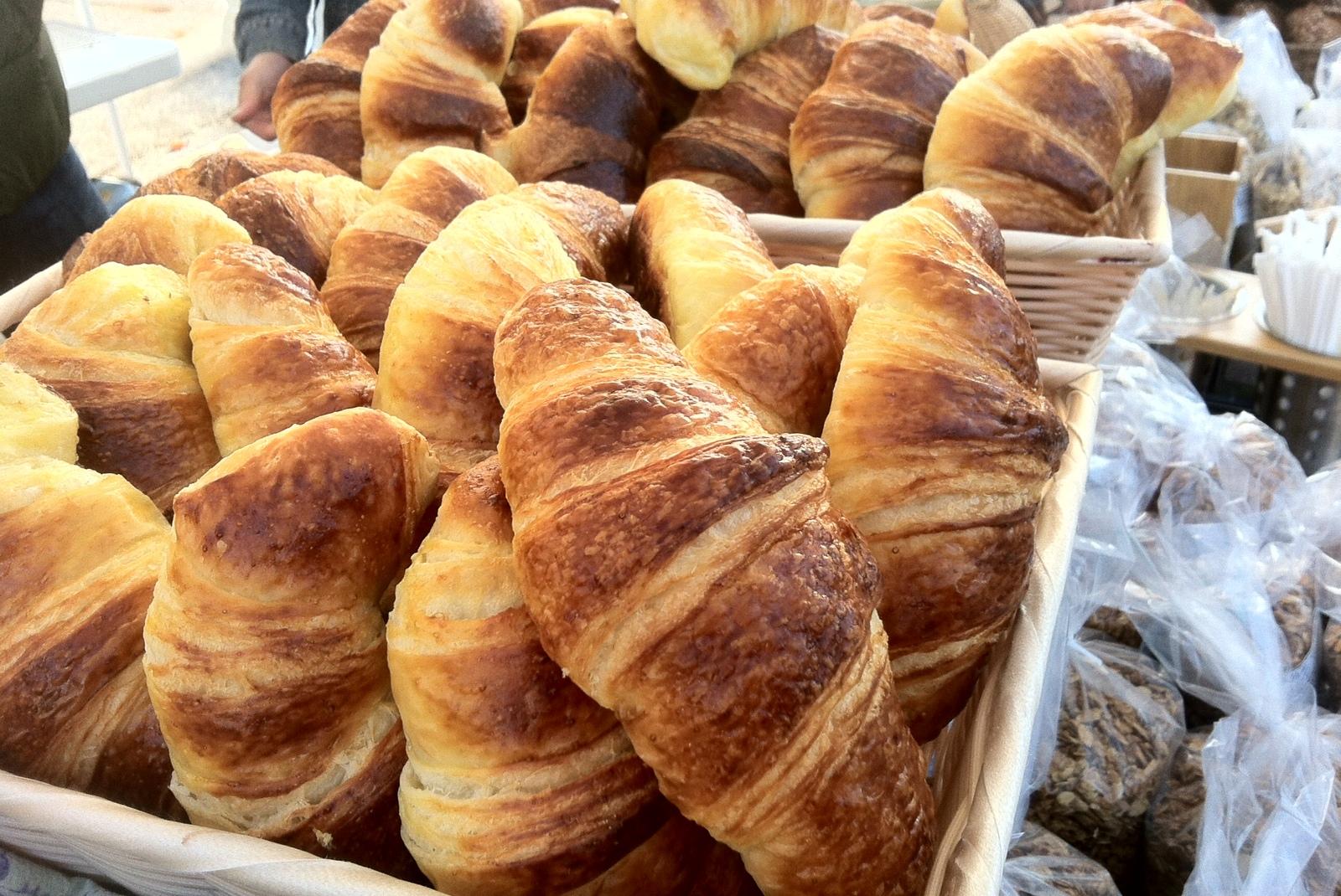 Croissants at the Farmer's Market
