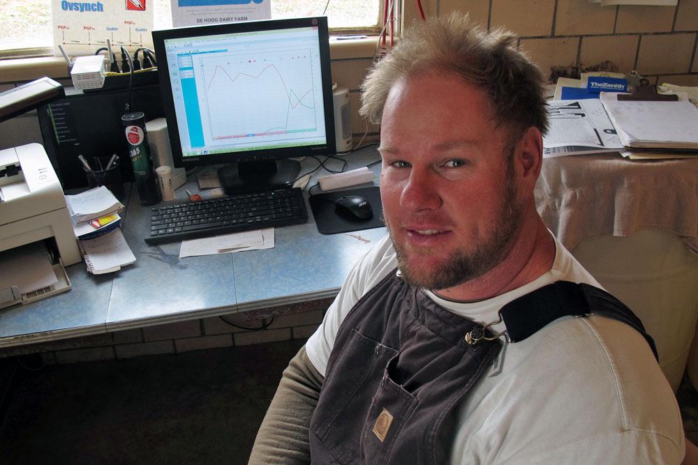 Dairy farmer Marty DeHoog