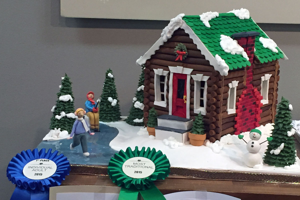 Mary Figeuroa's award-winning gingerbread house