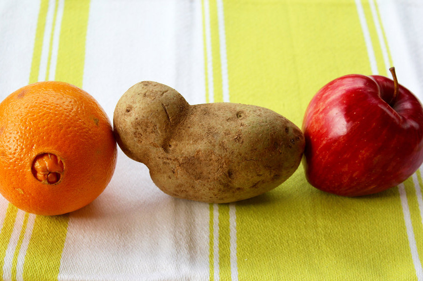 orange, potato and apple