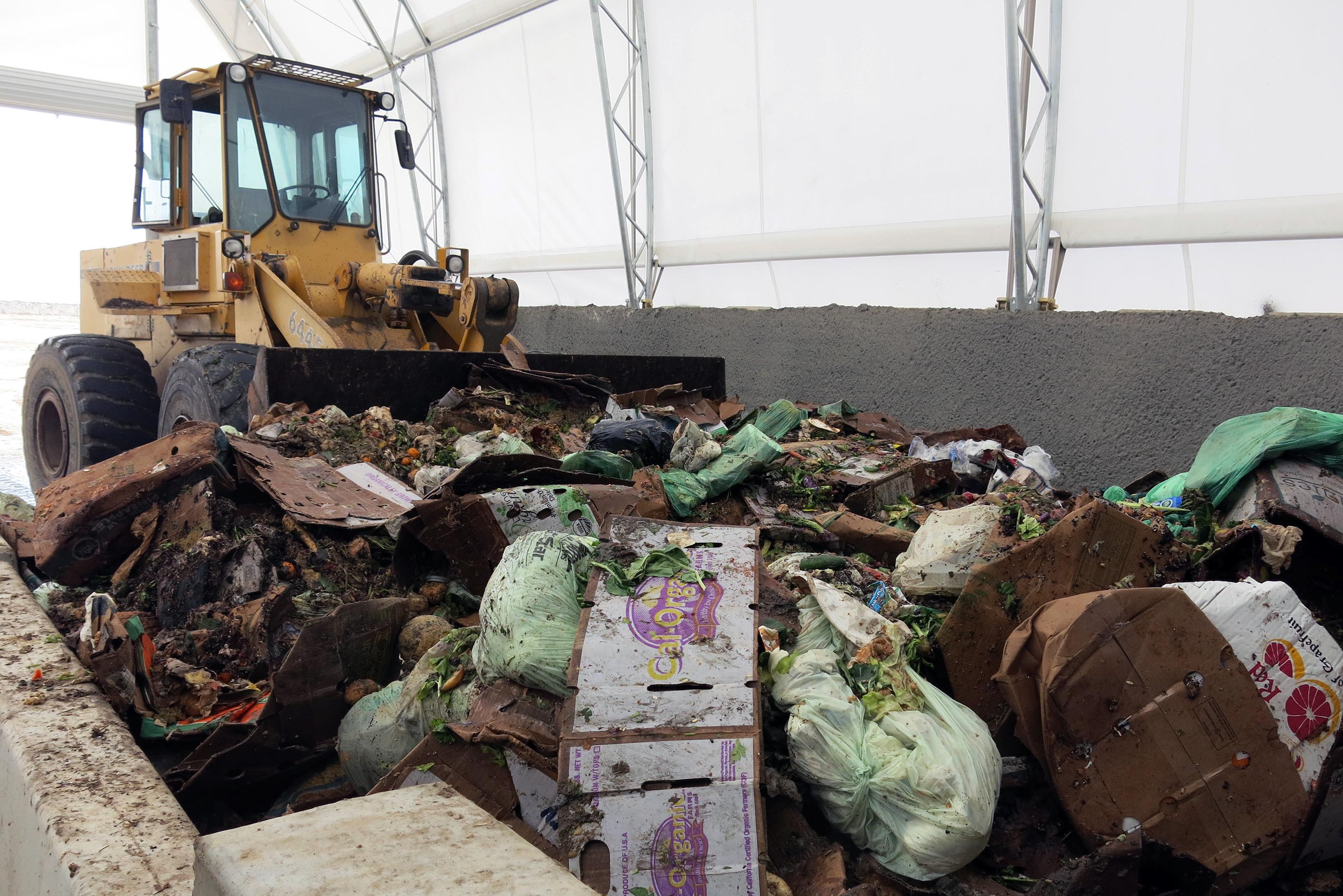food waste and tractor