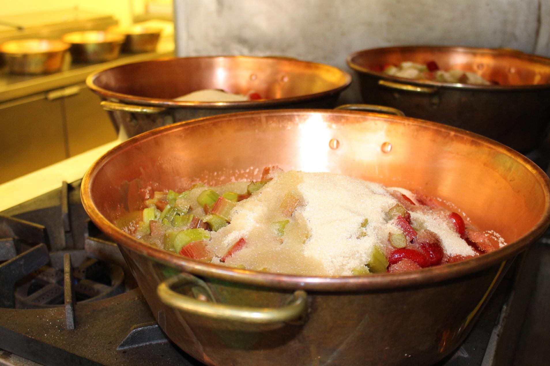 making jam in a pot