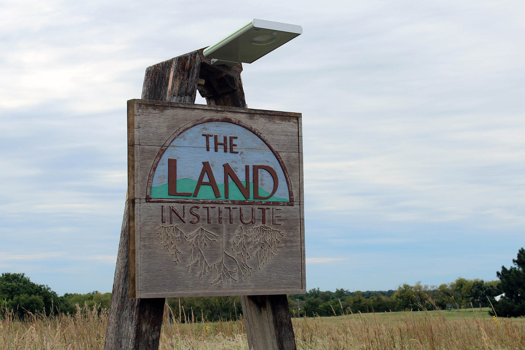 the land institute sign