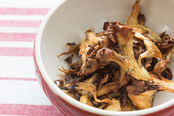 roasted hen of the woods