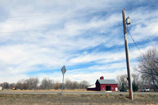 A barn sits near Boulder County's Parks and Open Space Department