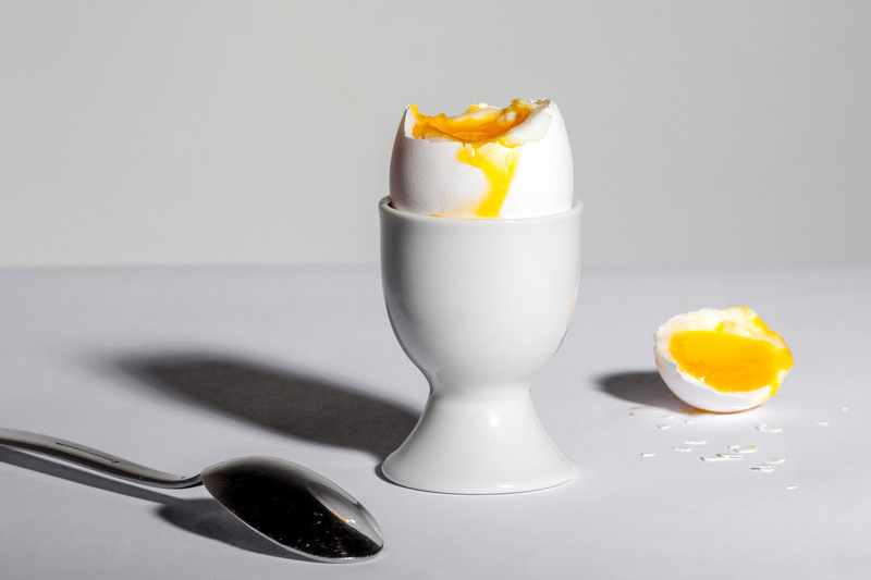 half-cracked egg