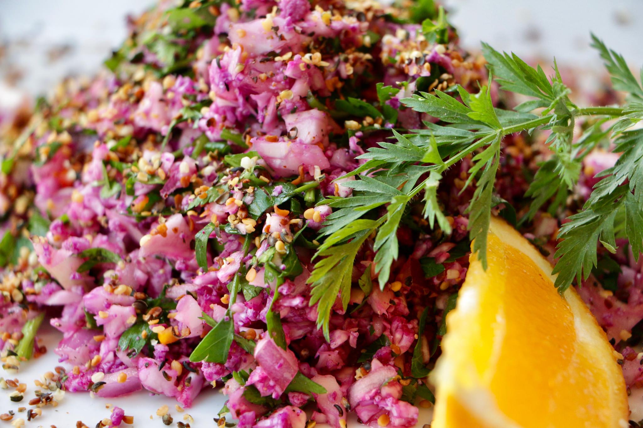 Cauliflower Tabbouleh With Toasted Hemp Seeds