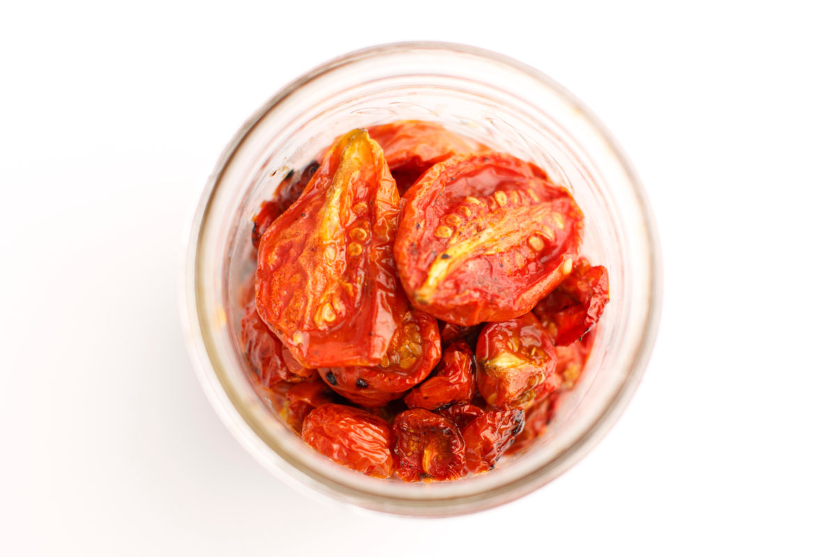 Roasting tomatoes extends their shelf life--just store them in a jar in the fridge 'til you're ready to use them.(Photo by James Brosher)