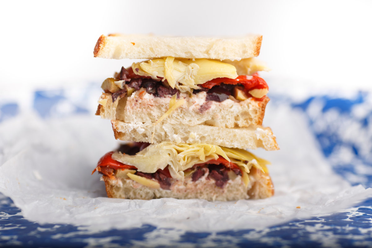 This sandwich keeps well after it's made, so it's perfect to pack for a picnic, or for your lunch at work today (James Brosher)