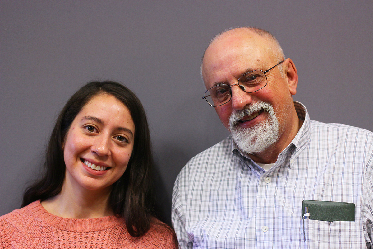 Kira Santiago grows flowers on Dave Bishop's farm. They recorded a conversation with StoryCorps at the 2018 MOSES Conference (photo courtesy of StoryCorps)