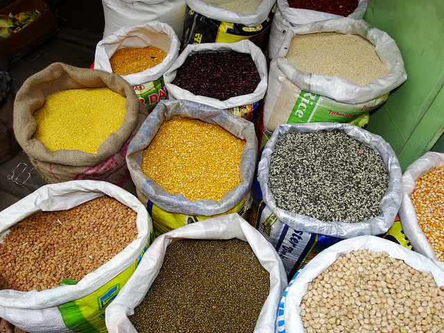 The study also encourages people to eat more pulses - beans, peas, and lentils. (Adam Jones/Flickr)