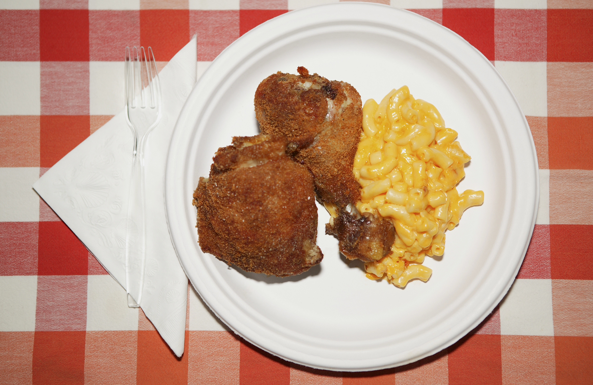 Fried chicken and mac and cheese: A study suggests Southern cuisine may be at the center of a tangled web of reasons why black people in America are more prone to hypertension than white people. (Robert Manella/Getty Images)