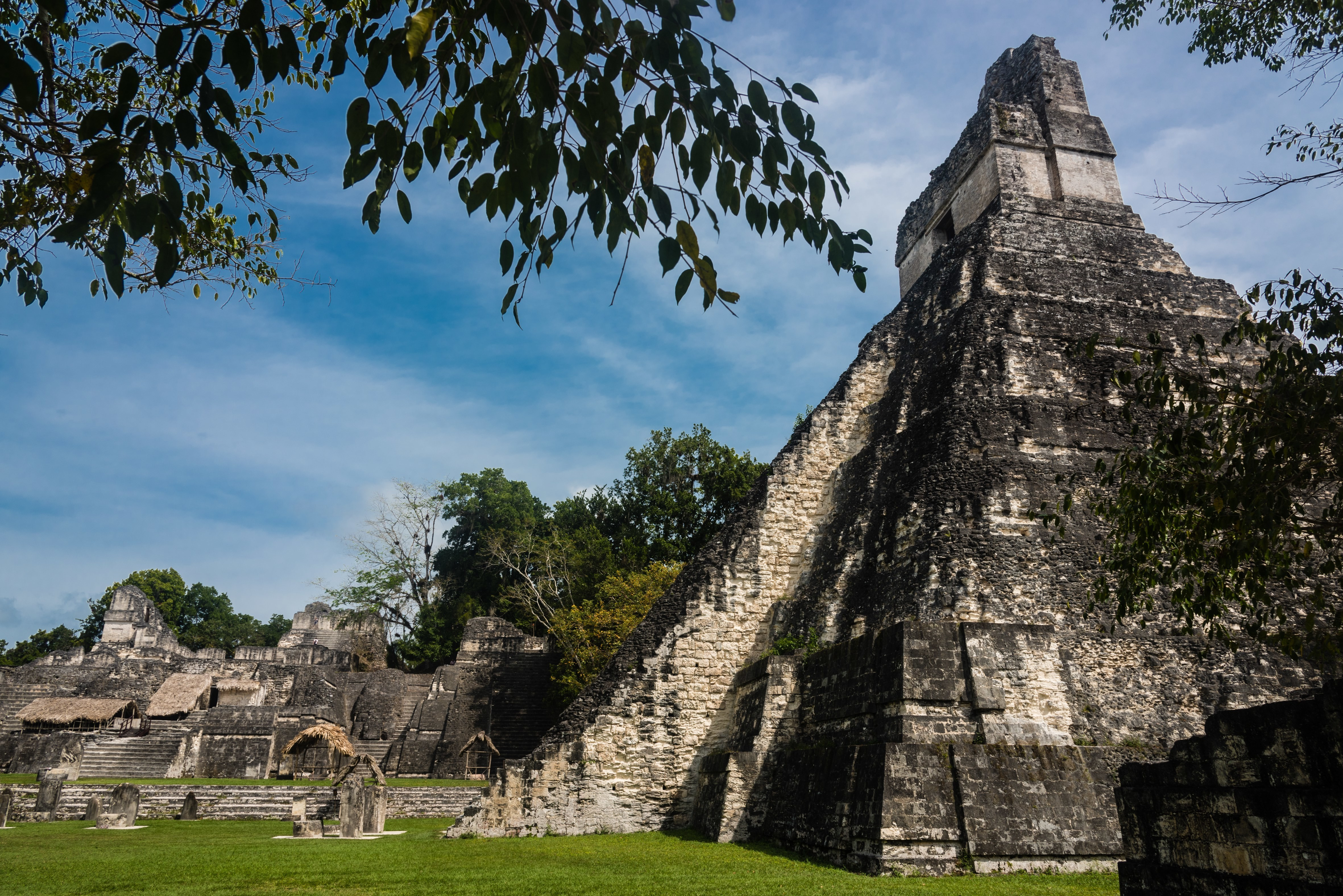Ancient Maya ruins at Tikal in northern Guatemala, near the border with Belize. Researcher Heather McKillop explains that Maya sites like Tikal could have been popular marketplaces to trade salt and other commodities. (David DUCOIN/Gamma-Rapho/Getty Images)