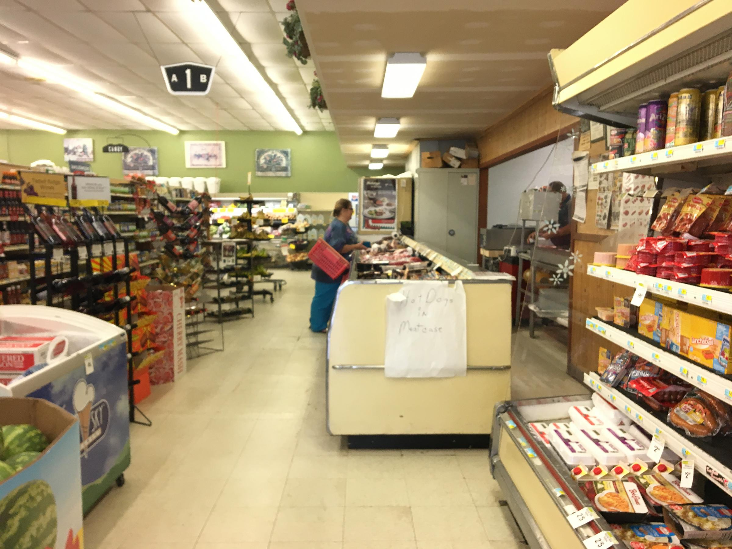 A small, independent grocery store in southwest Iowa relies on federal Supplemental Nutrition Assistance Program funds for about a fifth of its annual revenue. (PEGGY LOWE / HARVEST PUBLIC MEDIA)