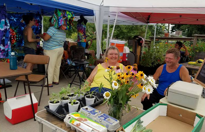 Lisa and Kenny Willson Bring eggs, produce and plant starts to the Hub Farm Stand, and have been involved from the beginning. (Photo Courtesy of MHC)