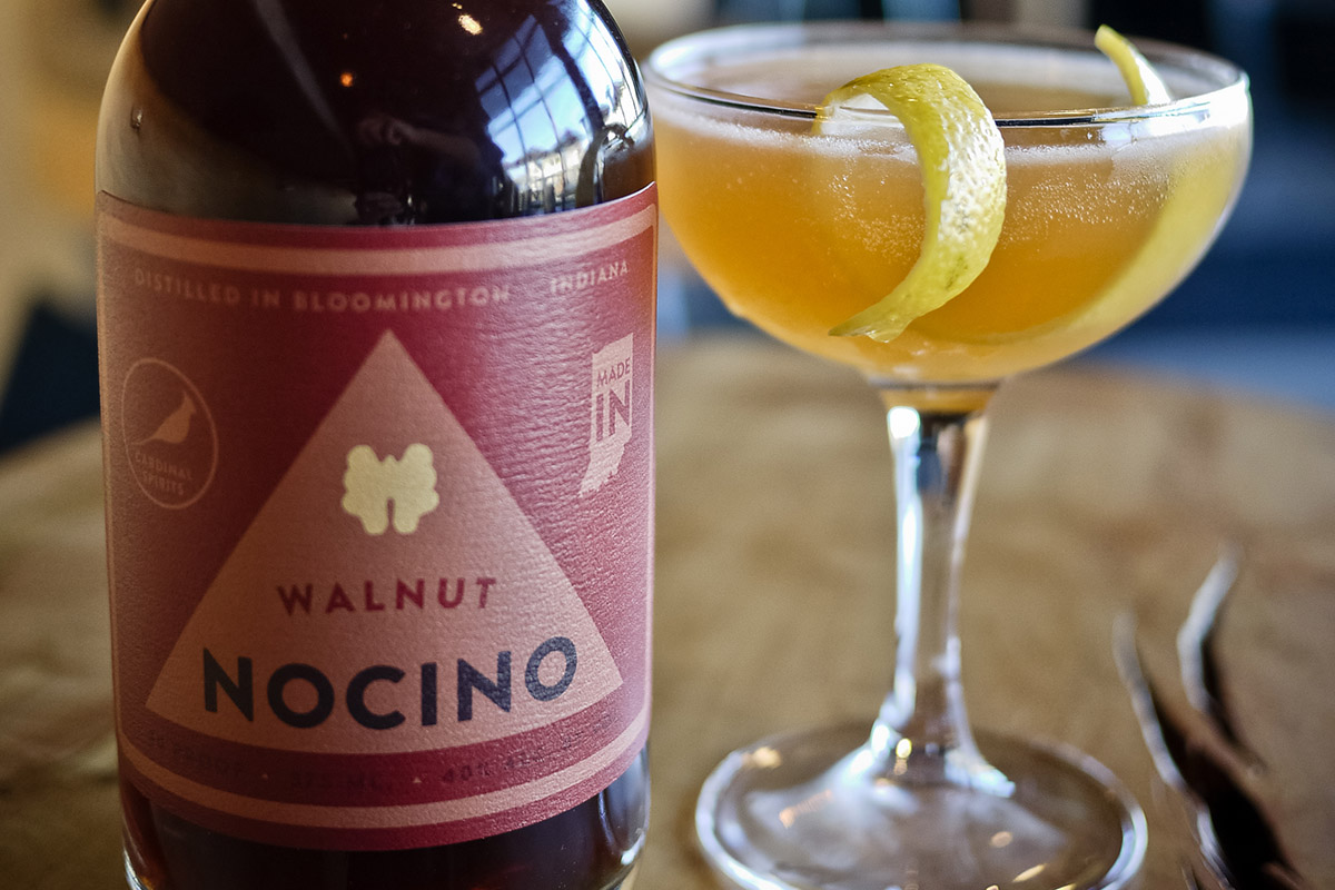 You can make your Nocino Sour with eggwhite, or skip it. (photo courtesy of Cardinal Spirits)