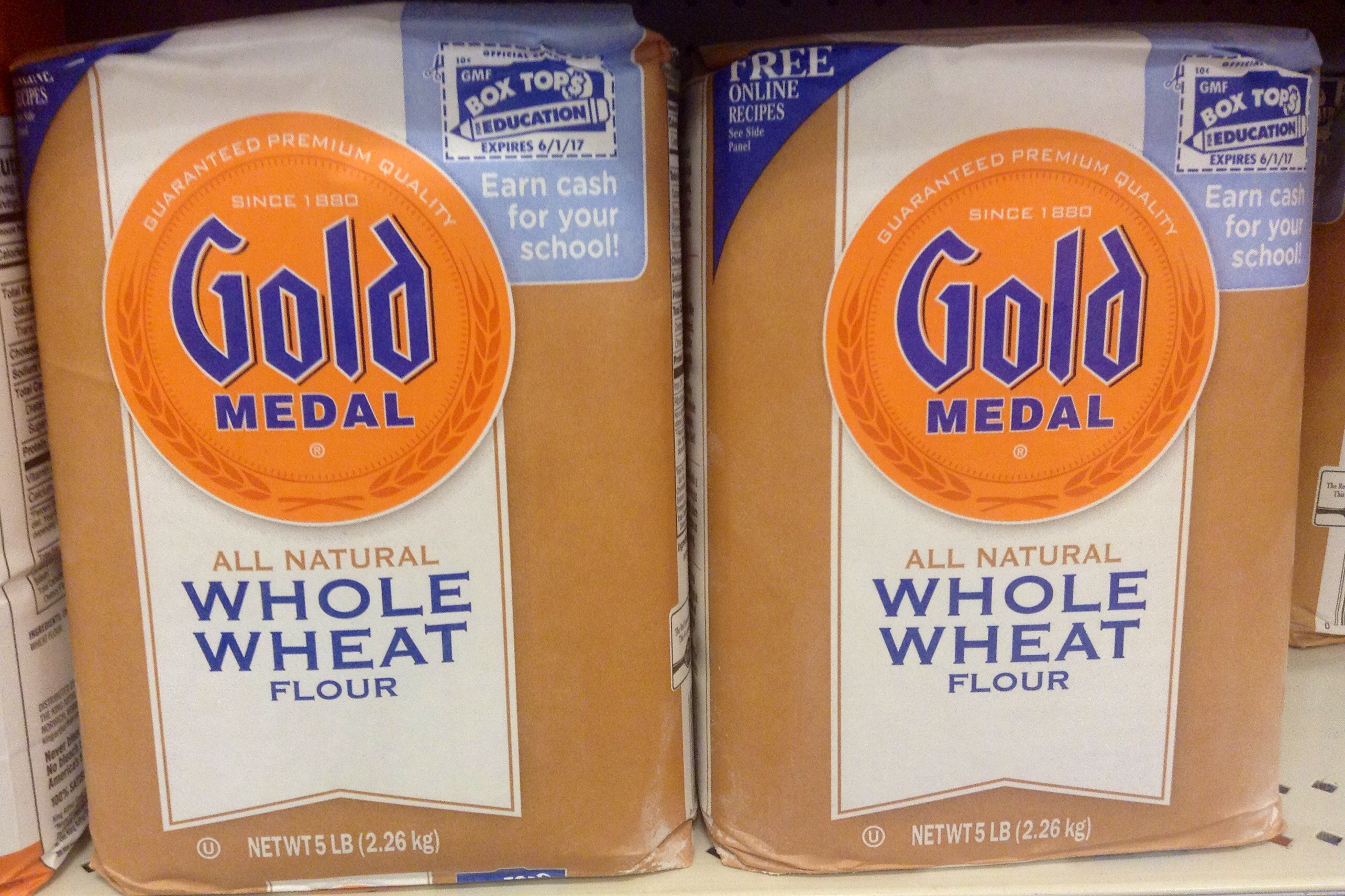 """General Mills has recalled 5-pound bags of flour that have a """"better if used by"""" date of April 20, 2020. (Mike Mozart/flickr)"""