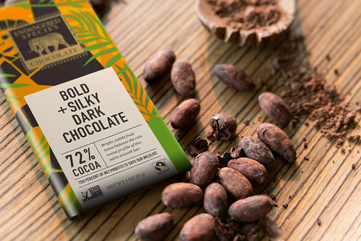 Endangered Species Chocolate Company sources its cacao beans exclusively from Cote D'Ivoire in West Africa (photo courtesy of Endangered Species Chocolate)