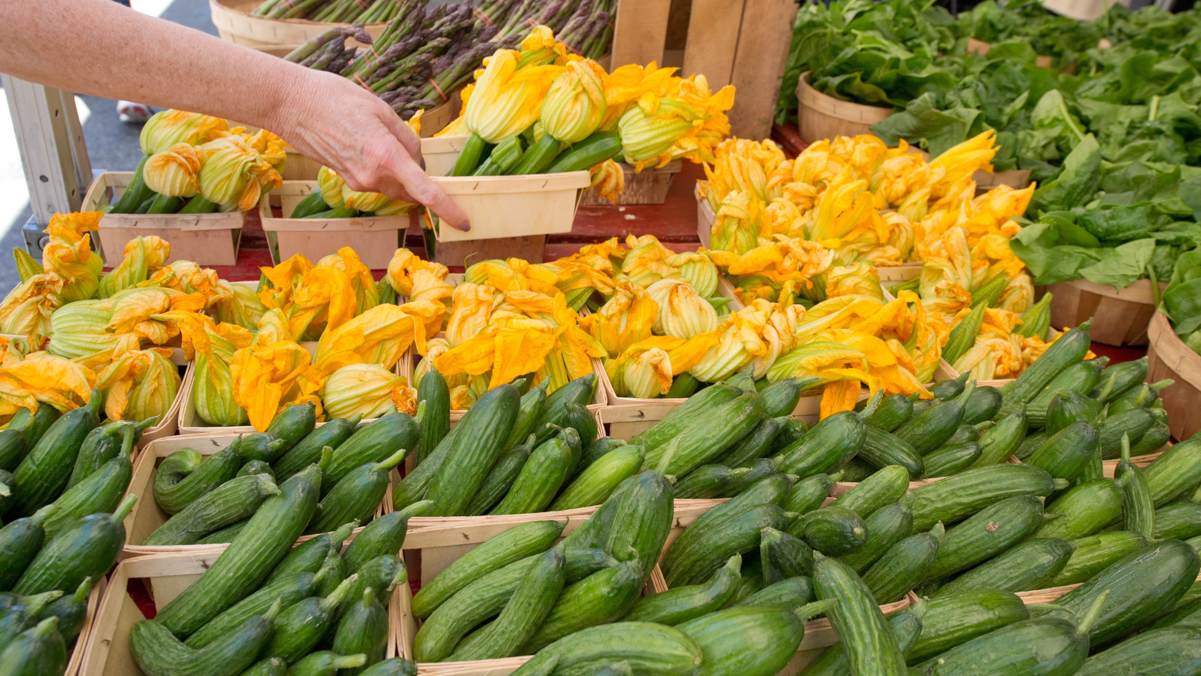 Nationwide, there are too few farmers to populate market stalls and too few customers filling their canvas bags with fresh produce at each market. (Karen Bleier/AFP/Getty Images)