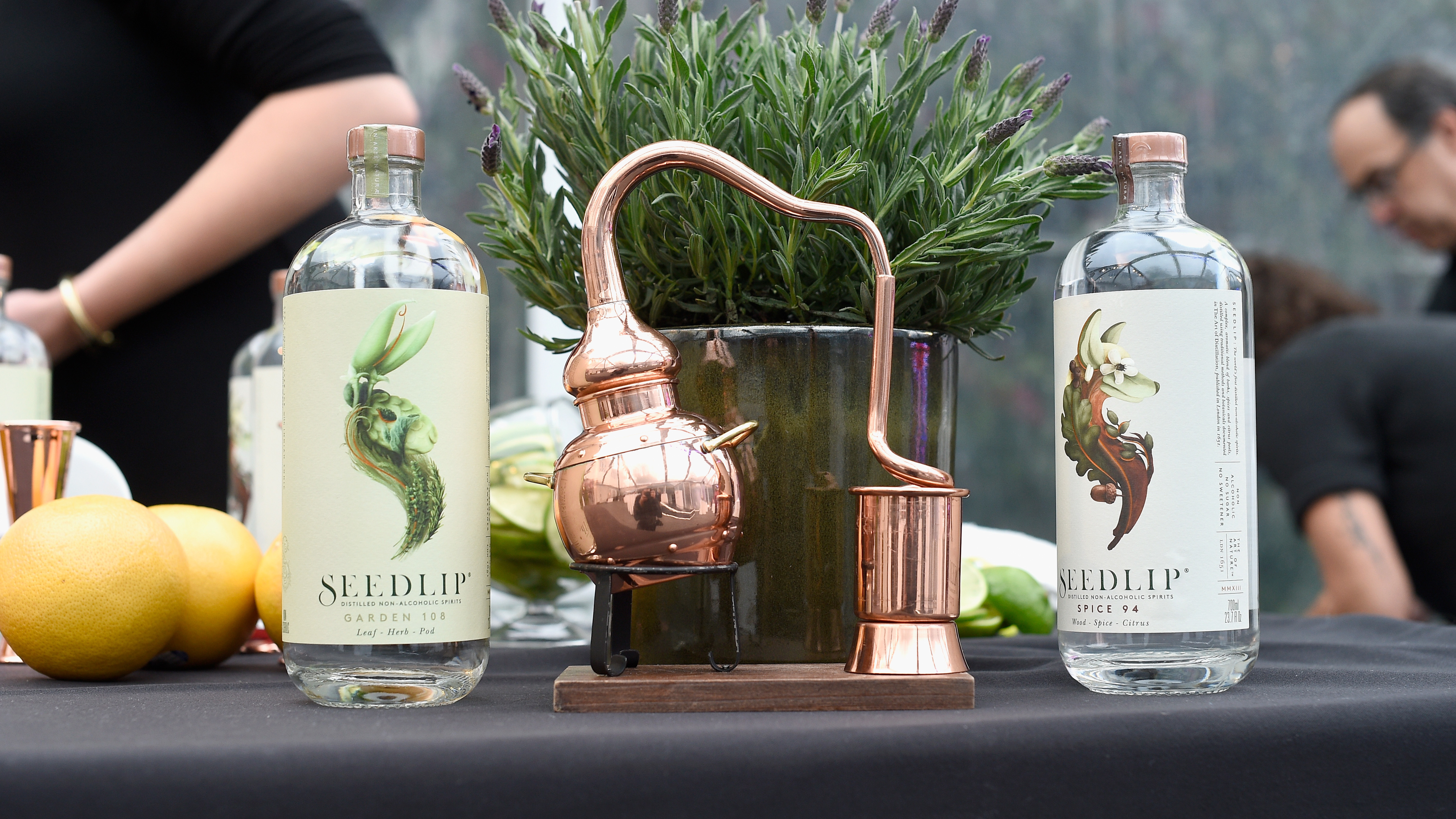 Seedlip, a distilled nonalcoholic spirit, was created when Ben Branson came across a 17th-century book that contained nonalcoholic remedies for a variety of maladies — from epilepsy to kidney stone. (Kevork Djansezian/Getty Images)