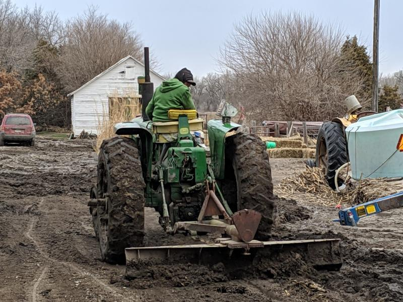 Tom Geisler's farm was inundated with floodwaters in March 2019 (JACK WILLIAMS / NET NEWS)
