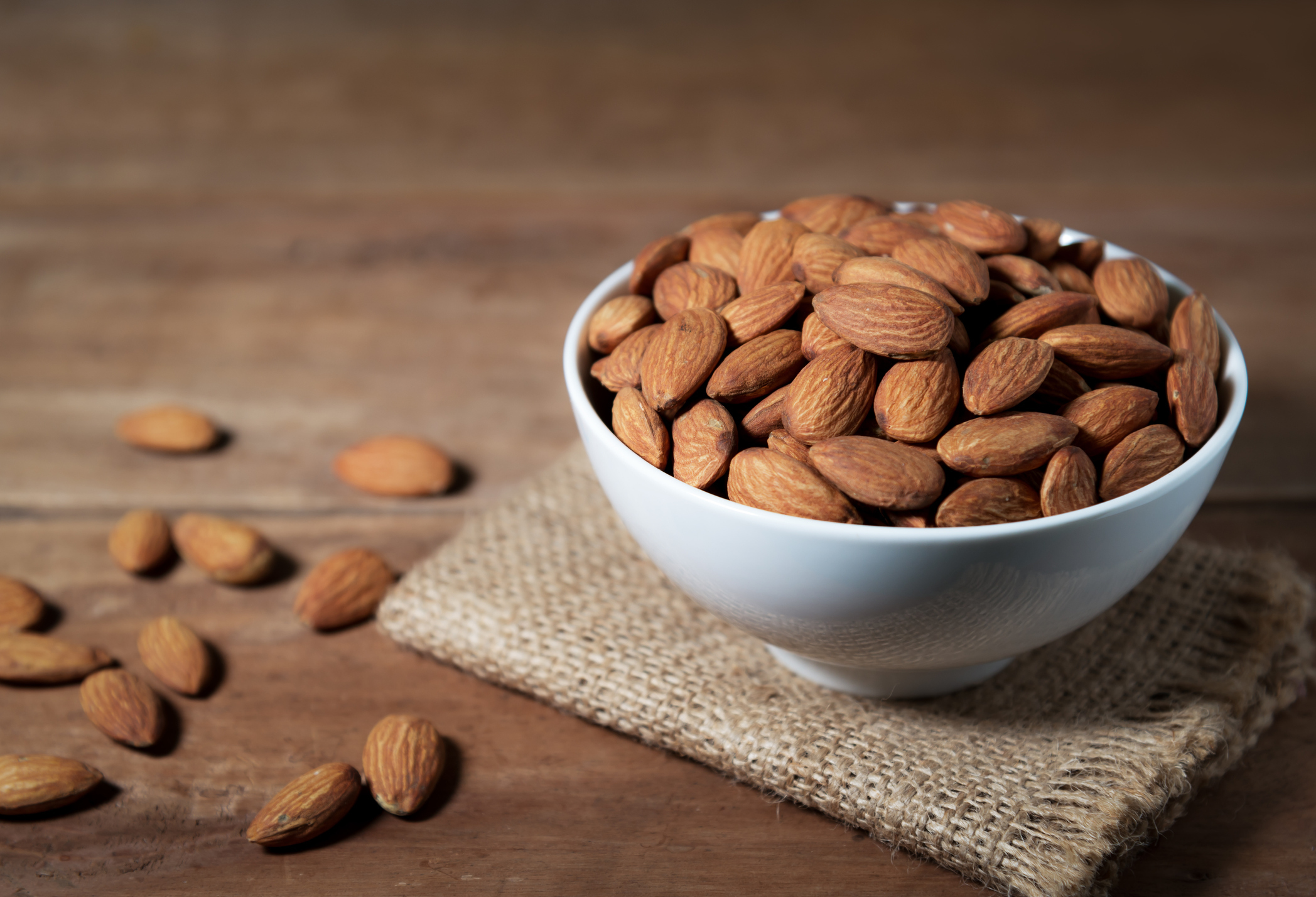 Thanks to a genetic mutation thousands of years ago, modern domesticated sweet almonds are delicious and safe to eat. (Ekapat Suwanmanee/Getty Images/EyeEm)