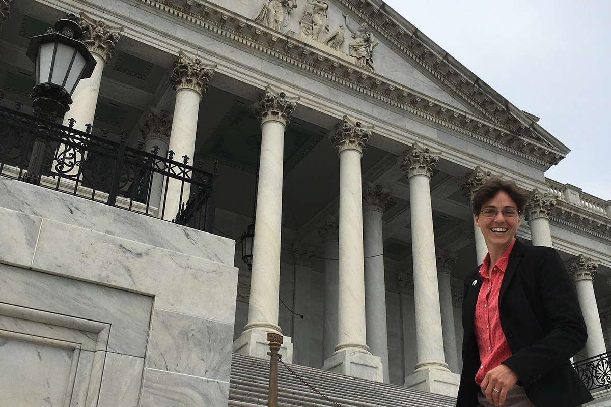Indiana farmer Liz Brownlee testified in Washington D.C. last week agains the USDA's relocation of two agencies. (Courtesy Liz Brownlee)