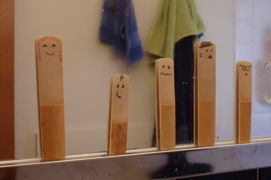 Reeds with faces