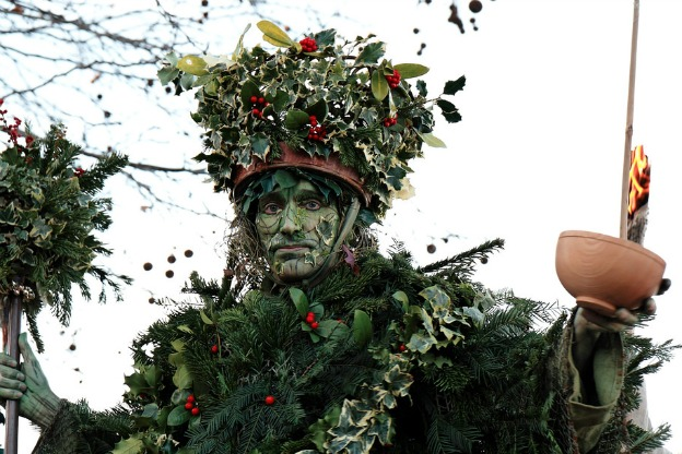 The Holly Man Wassails the Thames