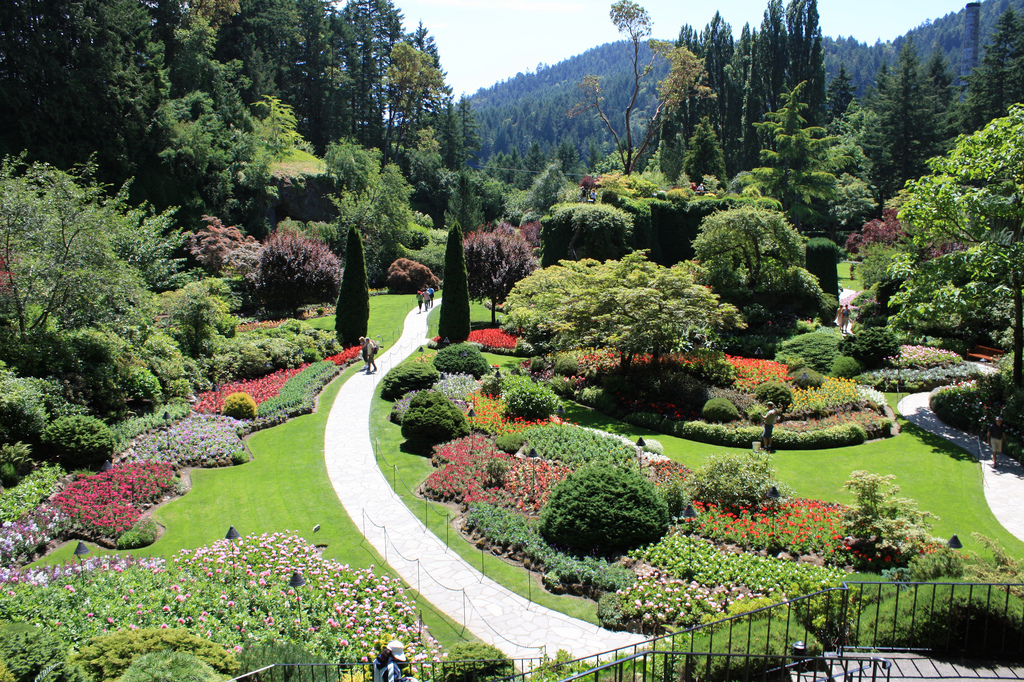The Sunken Garden in Butchart Gardens, Victoria, British Columbia (David Herrera / Flickr).