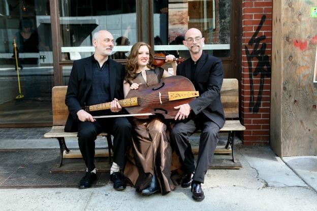 Trio Settecento members from left to right: John Mark Rozendaal, Rachel Barton Pine, and David Schrader