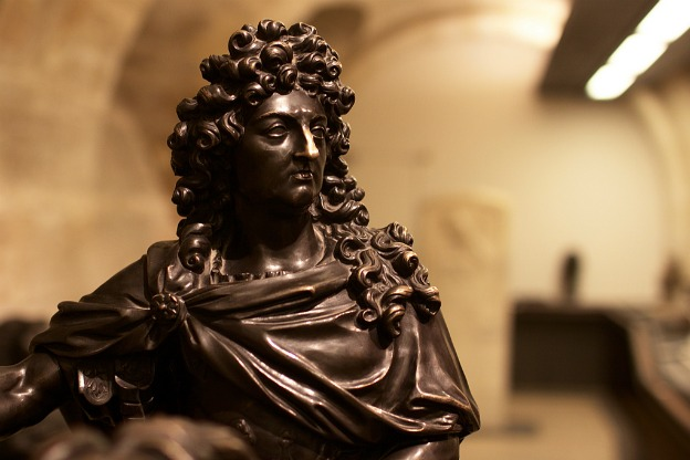 The Sun King, Louis XIV (Louvre Museum, Paris).