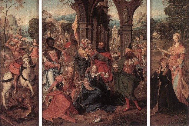 Painting of the Adoration of the Magi by an anonymous Renaissance master