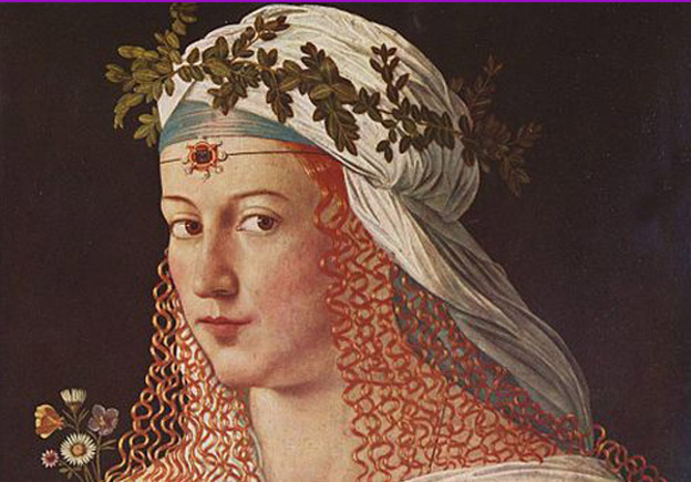 portrait of Lucrezia by Bartolomeo Veneto (late sixteenth century)
