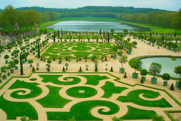 Nature and art combine for the pleasure of visitors to the gardens at Versailles.