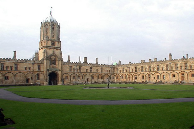 Tom Quadrangle, Christ Church College, University of Oxford, UK.