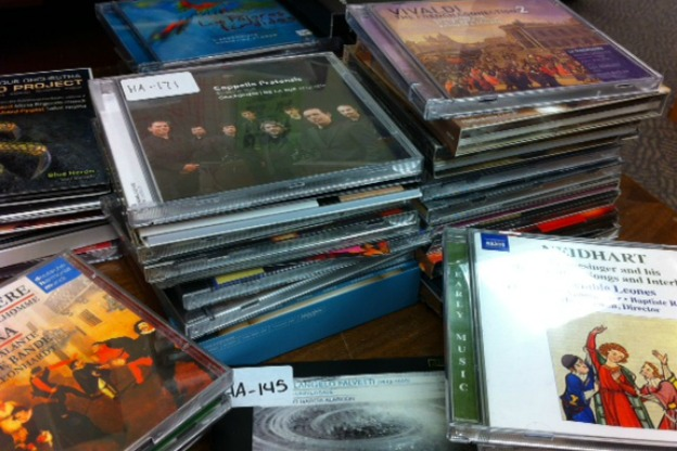 A realtime shot of the recent recordings stacked on our producer's desk.