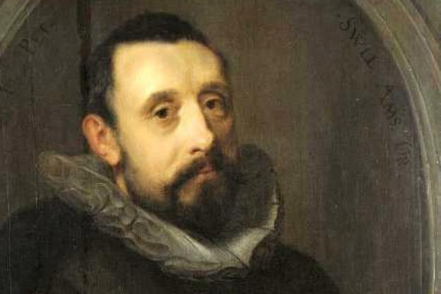 Detail from a portrait of Jan Pietersz. Sweelinck (1562-1621), by Gerrit Pietersz.