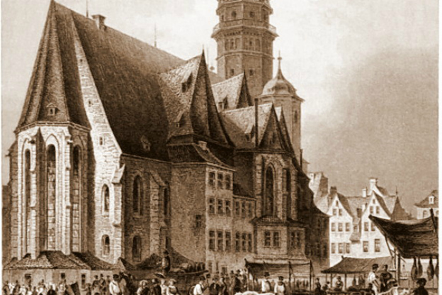 The Nikolaikirche in Leipzig, where Bach's St John Passion was first performed.