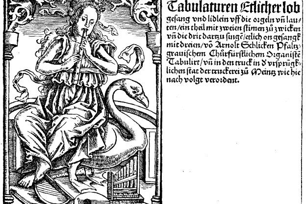 Title page of Arnolt Schlick's Tabulaturen etlicher lobgesang und lidlein uff die orgeln un lauten (Mainz, 1512)