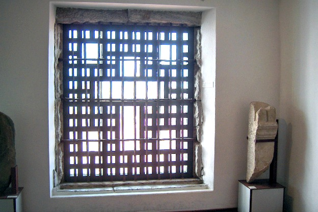 The window where sister Mariana Alcoforado could see the Count Chamilly, (Museu da Rainha D. Leonor, Beja, Portugal).