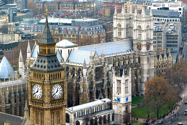 A vew of Westminster Abbey.