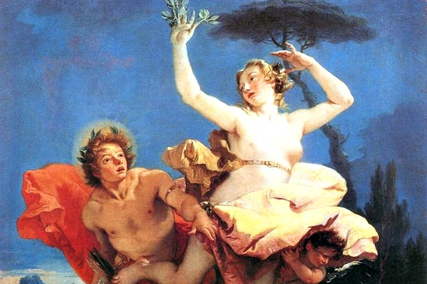 Detail from Daphne Chased by Apollo, a painting by Giovanni Battista Tiepolo, 1744.