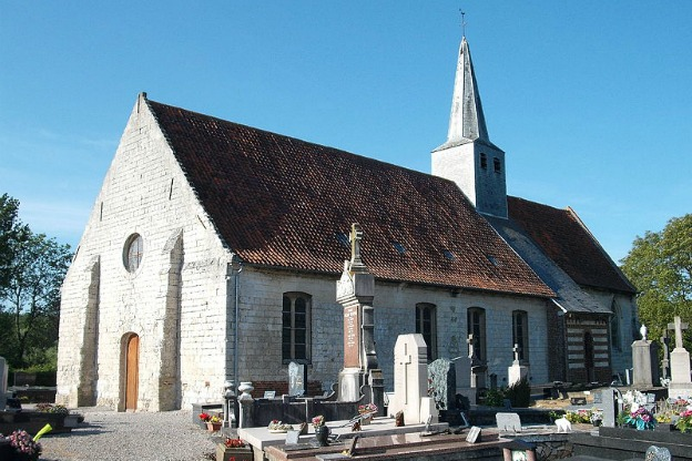 The church of Nielles-lès-Ardres that houses the newly restored  1696 van Belle organ heard on this recording.
