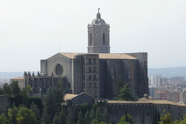 Cathedral in Girona, view from Montjuïc